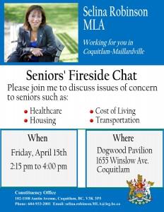 April 15 Seniors' Fireside Chat