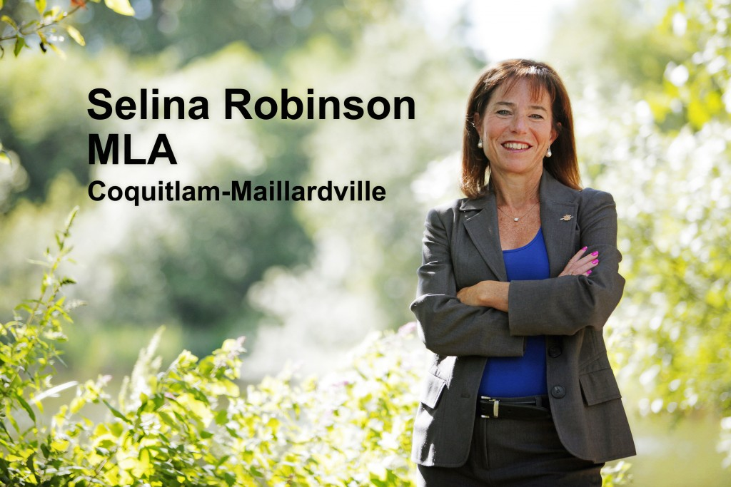 Selina Robinson- MLA for Coquitlam Miaillardville at Como Lake