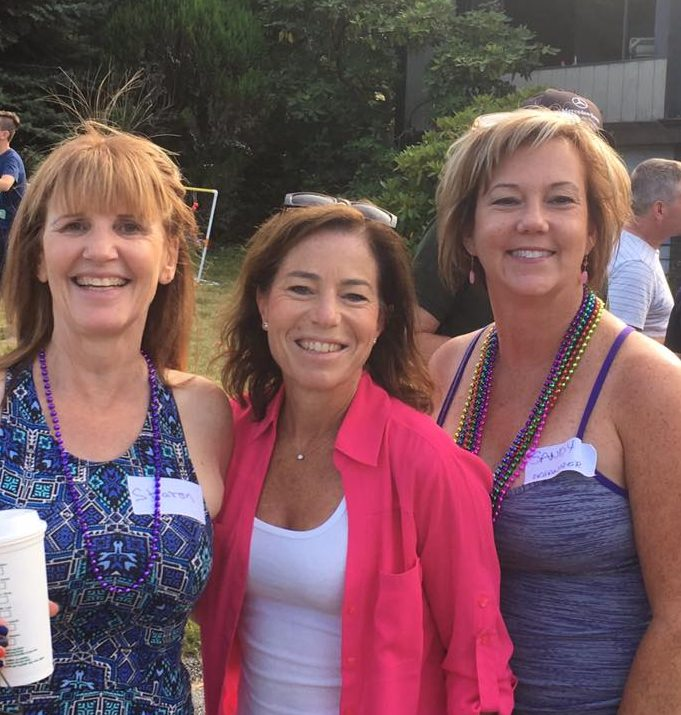 (Pictured: Sharon, Selina and Sandy at the Ranch Park block party)